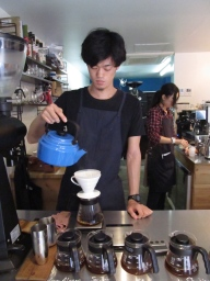 Hand-drip coffee at Switch Coffee
