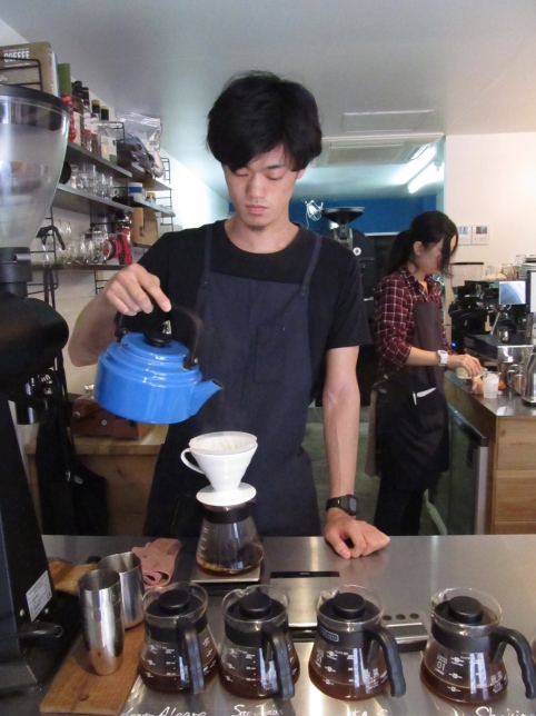 Hand-drip coffee at Switch Coffee