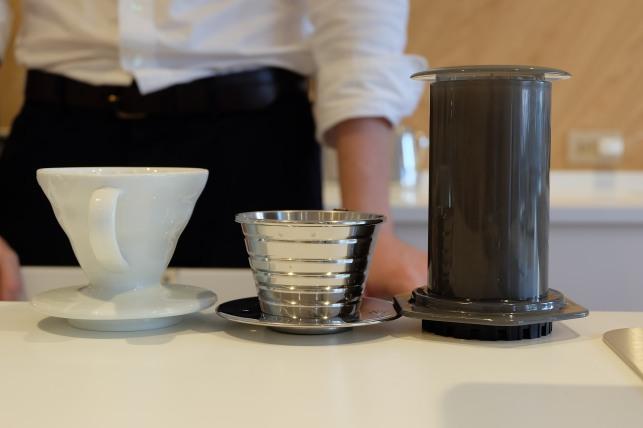 Brew options at PNB Coffee