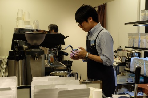 Switch Coffee Barista on Espresso Machine Tokyo Japan
