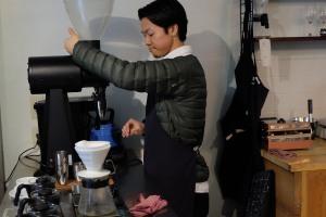 Barista at Switch Coffee Tokyo Meguro Japan