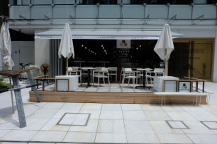Exterior Shot of Coutume Coffee Aoyama Tokyo Japan