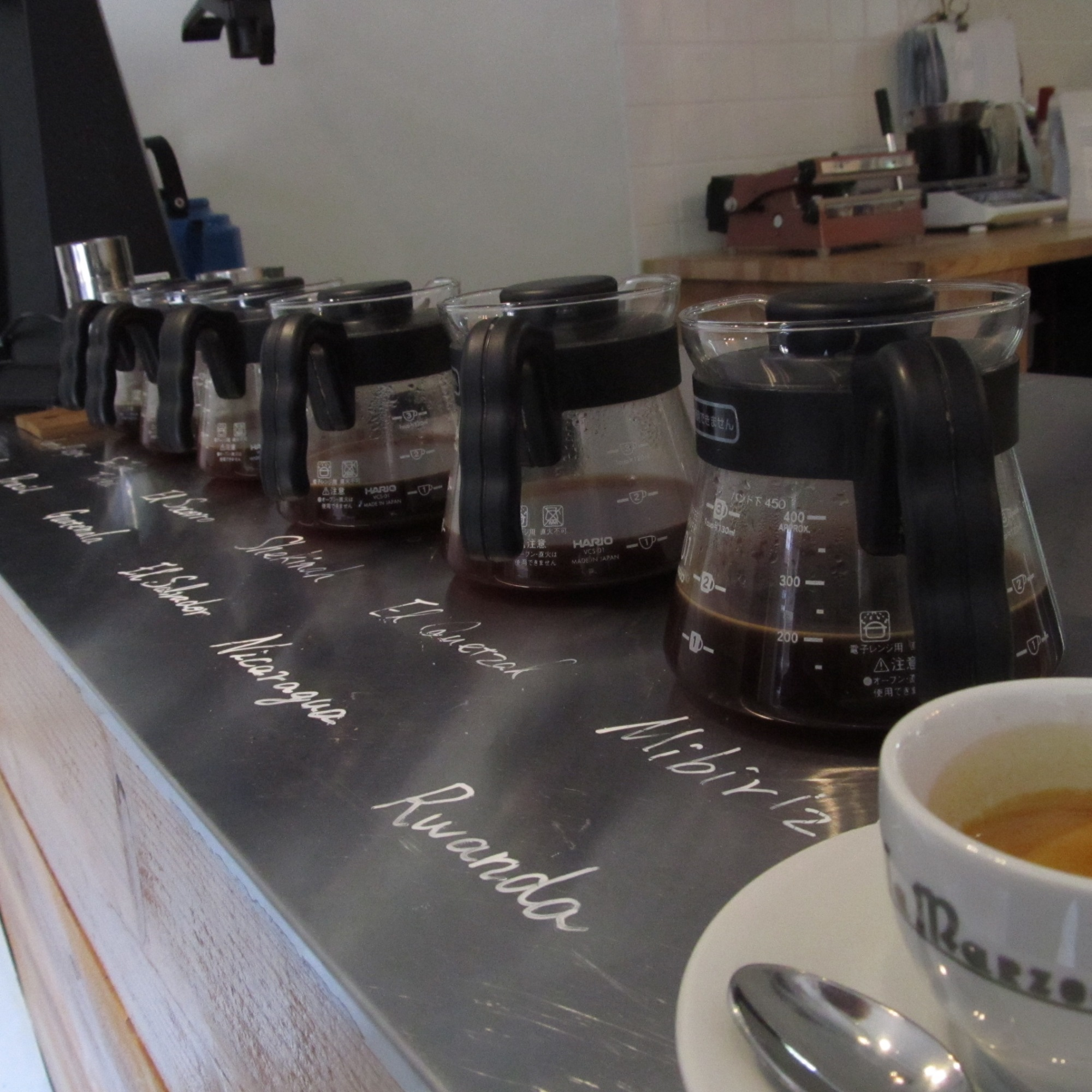 Coffee Carafes at Switch Coffee Meguro Tokyo Japan