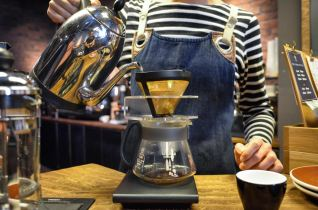 Pour-Over at The Roaster by Nozy Coffee Jingumae Tokyo Japan