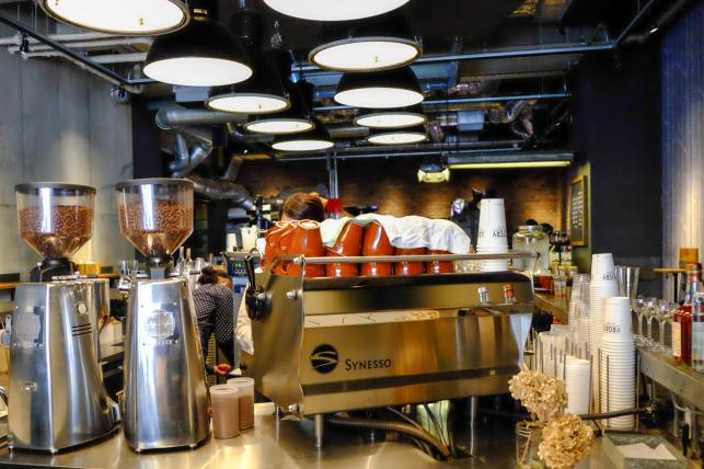Espresso Bar at The Roaster by Nozy Coffee Jingumae Tokyo Japan