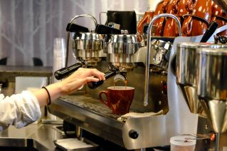 Synesso Hydra Espresso Machine at The Roaster by Nozy Coffee Jingumae Tokyo Japan