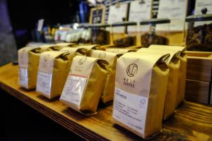 Coffee Bags at The Roaster by Nozy Coffee Jingumae Tokyo Japan
