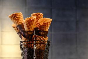 Ice Cream Cones at The Roaster by Nozy Coffee Jingumae Tokyo Japan