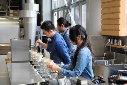 Pour Over Bar at Blue Bottle Coffee Kiyosumi-Shirakawa Tokyo Japan
