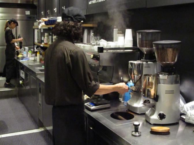 Barista at Work at Paul Bassett Shibuya Tokyo Japan