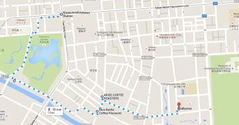 Coffee Map of Kiyosumi-Shirakawa Tokyo Japan