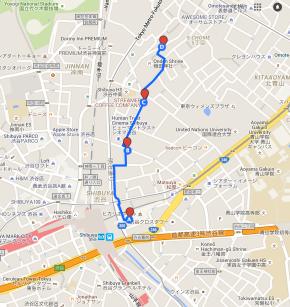 Map Shibuya Tokyo Coffee Cafes