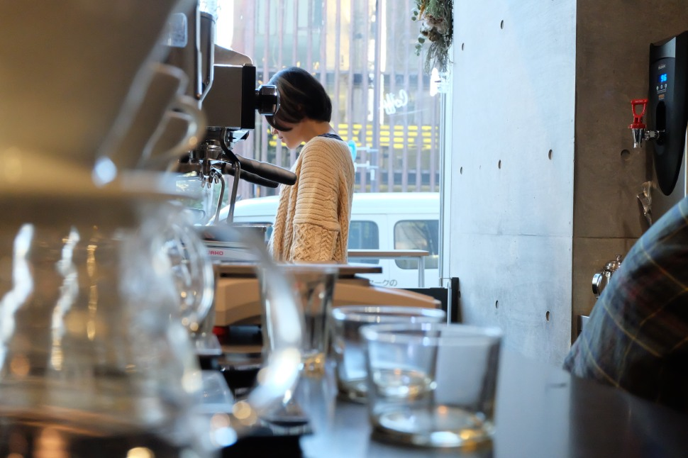 Interior Workspace of Ratio Coffee & Cycle Tokyo Japan
