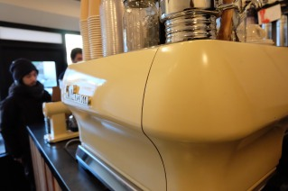 La Marzocco Espresso Machine Talk and Come Again Cafe Harajuku Tokyo Japan