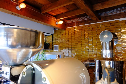 Roasting space at Onibus Coffee Nakameguro Tokyo Japan Cafe