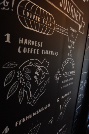 Harvest Coffee Cherries Coffee Mural Chalk Boy Onibus Coffee Nakameguro Tokyo Japan Cafe