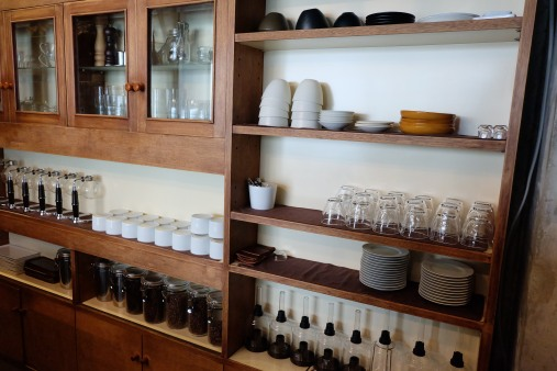 Shelves at Cafe Obscura Tokyo Japan Coffee