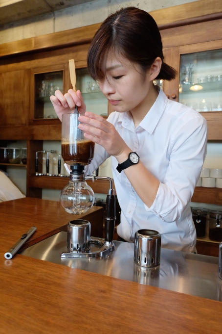 Brewing on a Siphon at Cafe Obscura Tokyo Japan Coffee