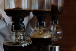 Beautiful Siphon Brewers at Cafe Obscura Tokyo Japan Coffee