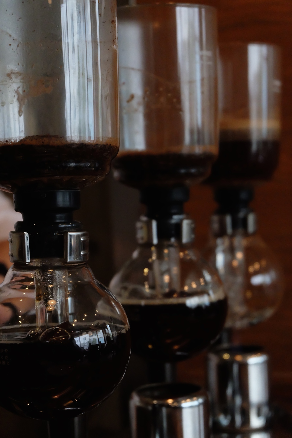Siphon Brewers at Cafe Obscura Tokyo Japan Coffee
