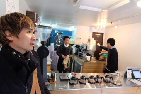 Charlie Luong of ArtisanSmith at Switch Coffee Tokyo