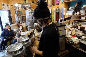 Taiju Hayashi of Arise Coffee Roasters Kiyosumi-Shirakawa Tokyo Japan