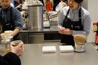 Happy Baristas at Blue Bottle Coffee Shinjuku Tokyo Japan