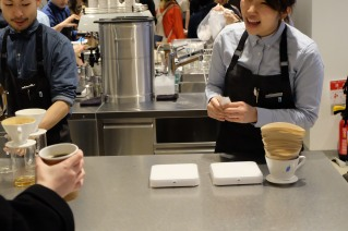 Happy Baristas at Blue Bottle Coffee Shinjuku Tokyo Japan
