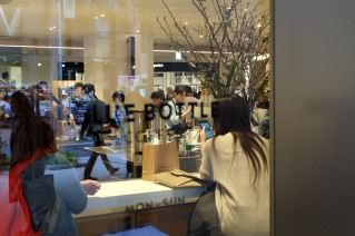 Blue Bottle Coffee Shinjuku view inside from outside window