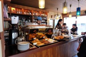 Barista Making Coffee in Fuglen Coffee Tokyo Shibuya Japan Cafe