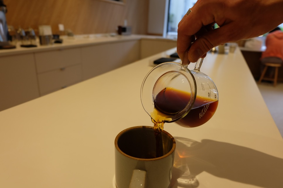 Pouring Coffee at PNB Coffee Meguro Tokyo Cafe