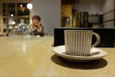 Hand Made Coffee Cup at Cobi Coffee in Aoyama Tokyo Japan