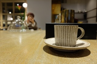 Hand Made Coffee Cup at Cobi Coffee in Aoyama Tokyo Japan