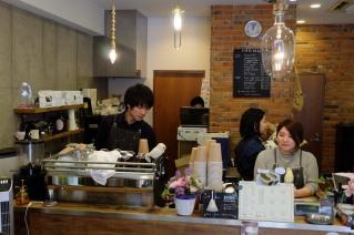Staff at Amameria Espresso Shinagawa Tokyo Japan Cafe