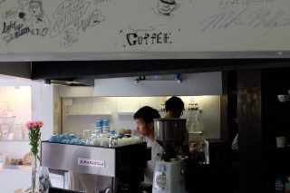 Barista by La Marzocco Espresso Machine at Light Up Coffee Kichijoji Tokyo Japan Cafe