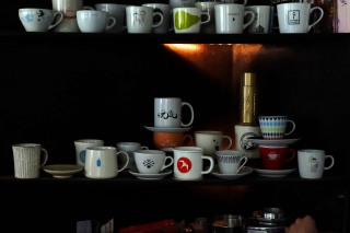 Coffee Cups at Light Up Coffee Kichijoji Tokyo Japan Cafe