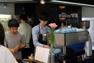 Baristas Taking Order at Light Up Coffee Kichijoji Tokyo Japan Cafe
