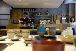 Cobi Coffee Seating at Cobi Coffee in Aoyama Tokyo Japan