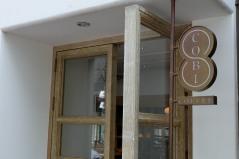 Exterior Door of Cobi Coffee in Aoyama Tokyo Japan