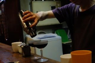 Iced Coffee via Shaker at Cafe de Lambre Kissaten Cafe in Ginza Tokyo Japan