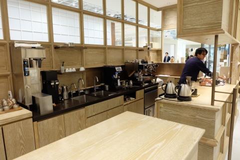Interior of Cobi Coffee Box Shinjuku Tokyo Japan