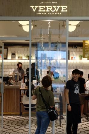 Exterior of Verve Coffee Roasters Shinjuku Tokyo Japan
