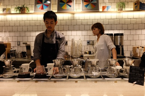 Pour-Over Station at Verve Coffee Roasters Shinjuku Tokyo Japan