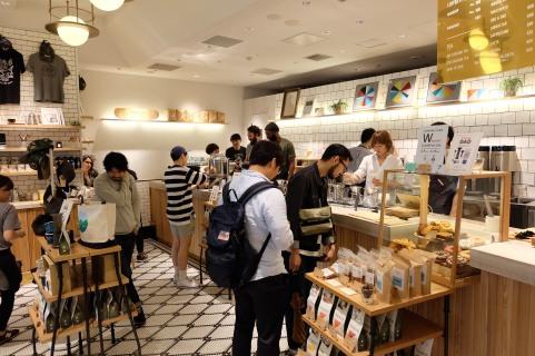 Customers Ordering at Verve Coffee Roasters Shinjuku Tokyo Japan