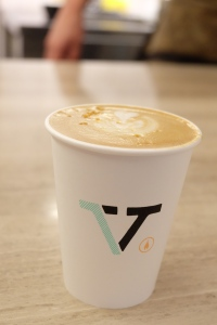 Latte at Verve Coffee Roasters Shinjuku Tokyo Japan
