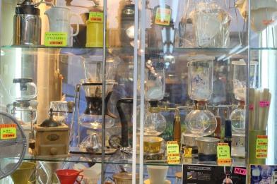 Window Display at Yamamoto Coffee Store in Shinjuku Tokyo Japan