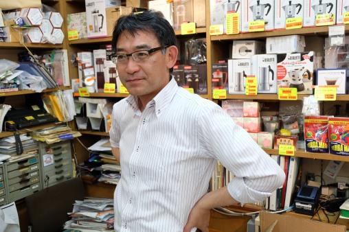 Owner of Yamamoto Coffee Store in Shinjuku Tokyo Japan