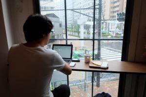 Interior Seating at Counterpart Coffee Gallery Shinjuku Tokyo Japan