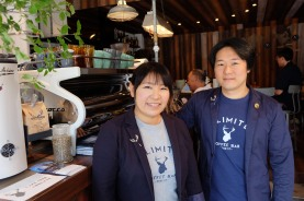 Hirai and Matsubara of Unlimited Coffee Bar in Narihira Tokyo Japan