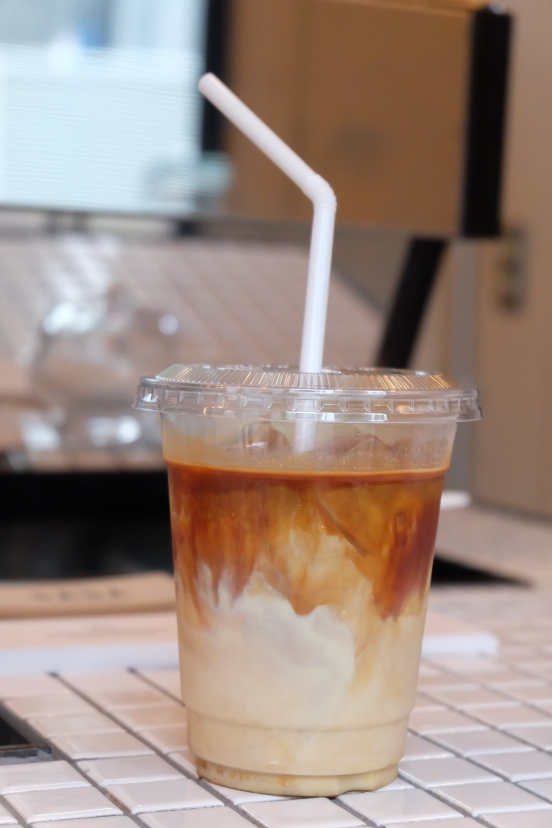 Iced Latte Cascade at Counterpart Coffee Gallery Nishi Shinjuku Tokyo Japan